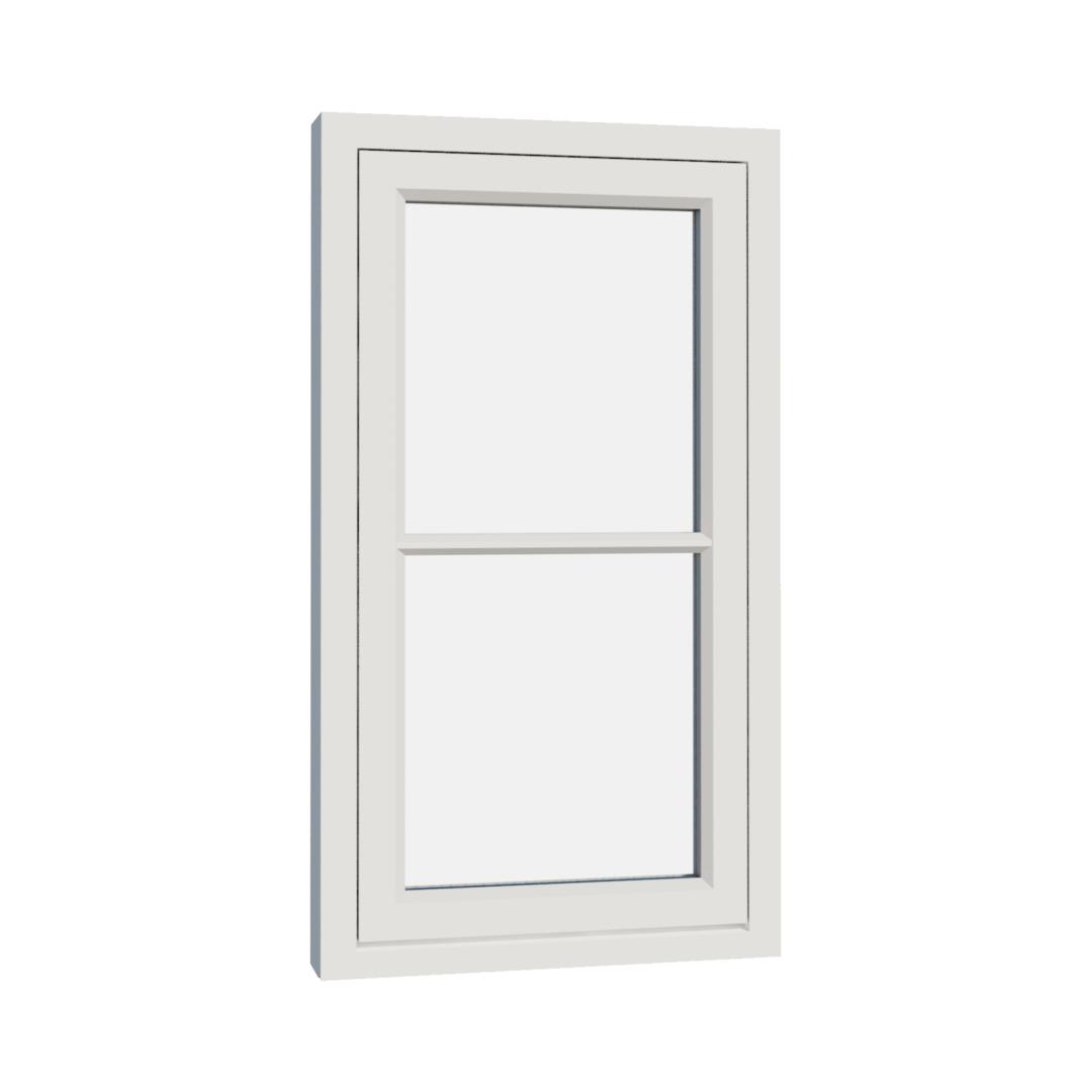 Vikeså vindu - Antikvariske vindu med kittfals - V100 serien / V102 utvendig