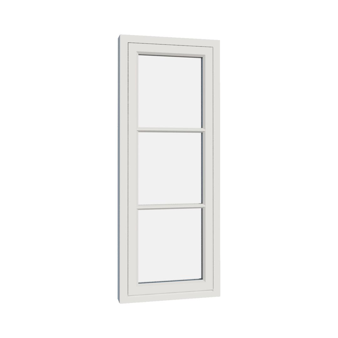 Vikeså vindu - Antikvariske vindu med kittfals - V100 serien / V103 utvendig