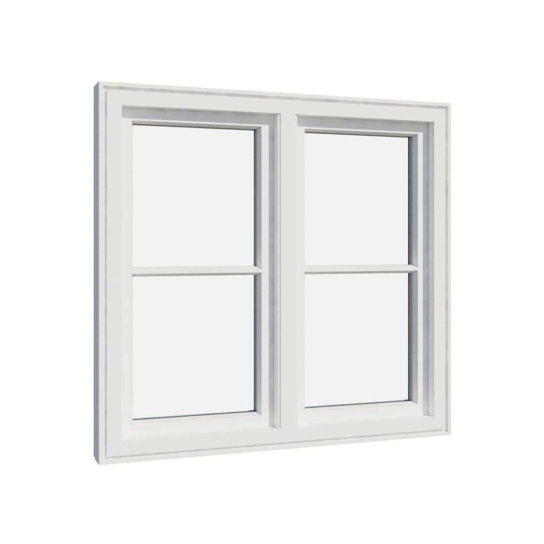 Vikeså vindu - Antikvariske vindu med kittfals - V200 serien / V204 innvendig