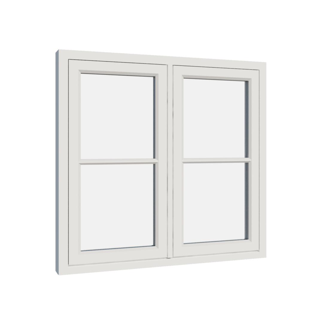Vikeså vindu - Antikvariske vindu med kittfals - V200 serien / V204 utvendig