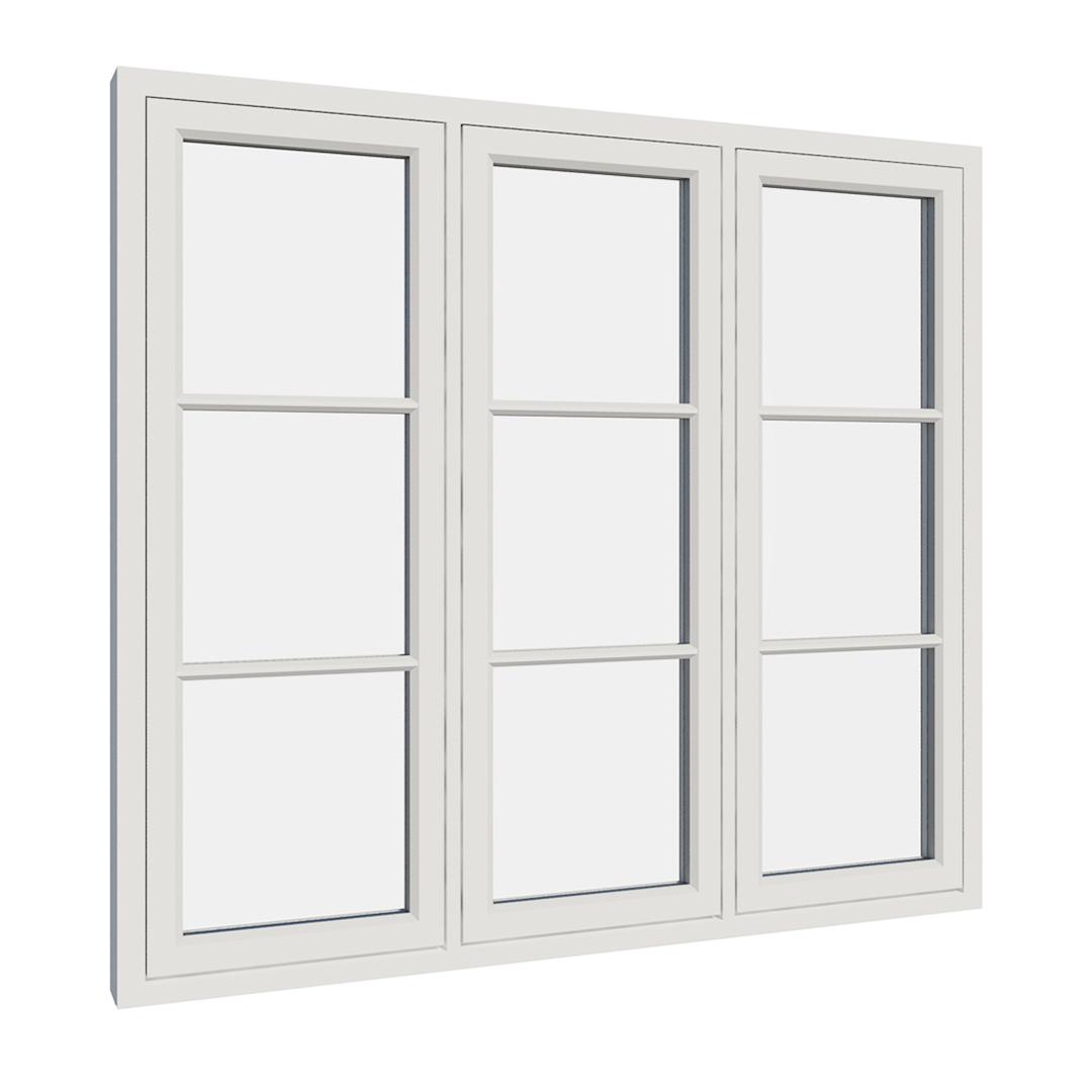 Vikeså vindu - Antikvariske vindu med kittfals - V300 serien / V309 utvendig