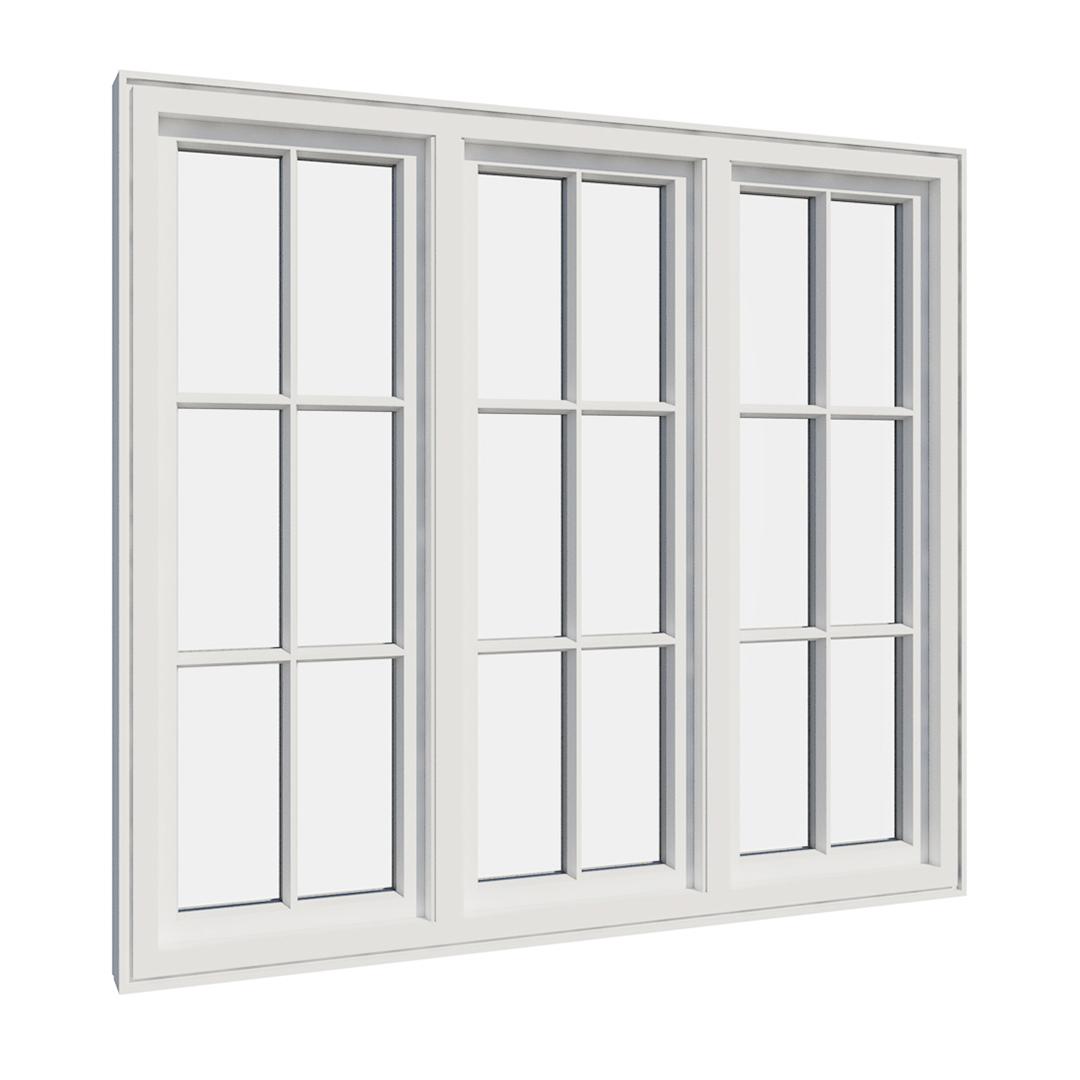 Vikeså vindu - Antikvariske vindu med kittfals - V300 serien / V318 innvendig