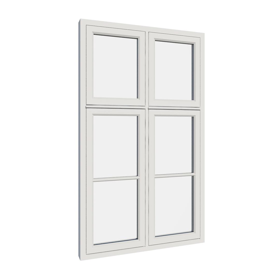 Vikeså vindu - Antikvariske vindu med kittfals - V400 serien / V406 utvendig