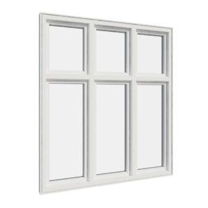 Vikeså vindu - Antikvariske vindu med kittfals - V600 serien / V600 utvendig