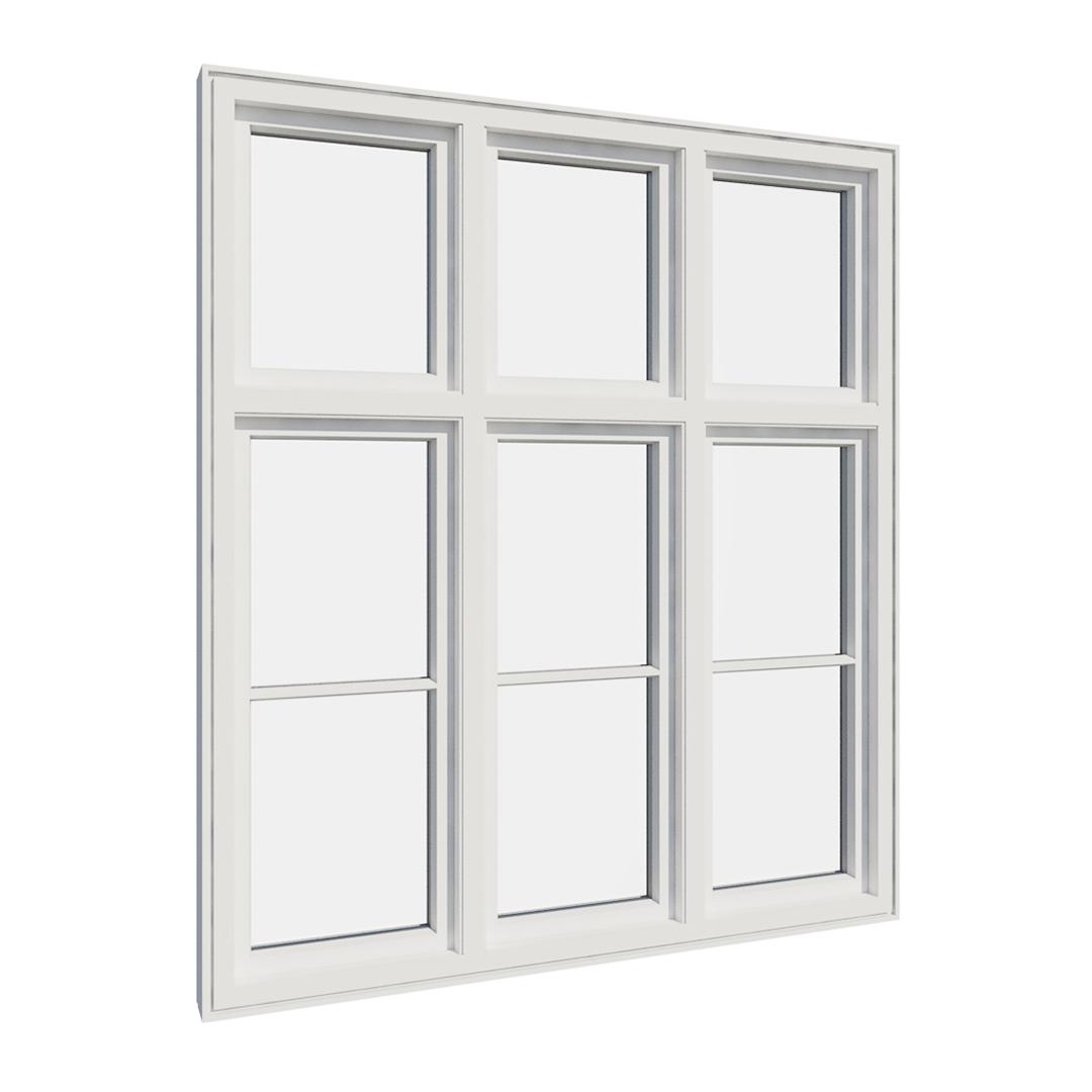 Vikeså vindu - Antikvariske vindu med kittfals - V600 serien / V606 innvendig