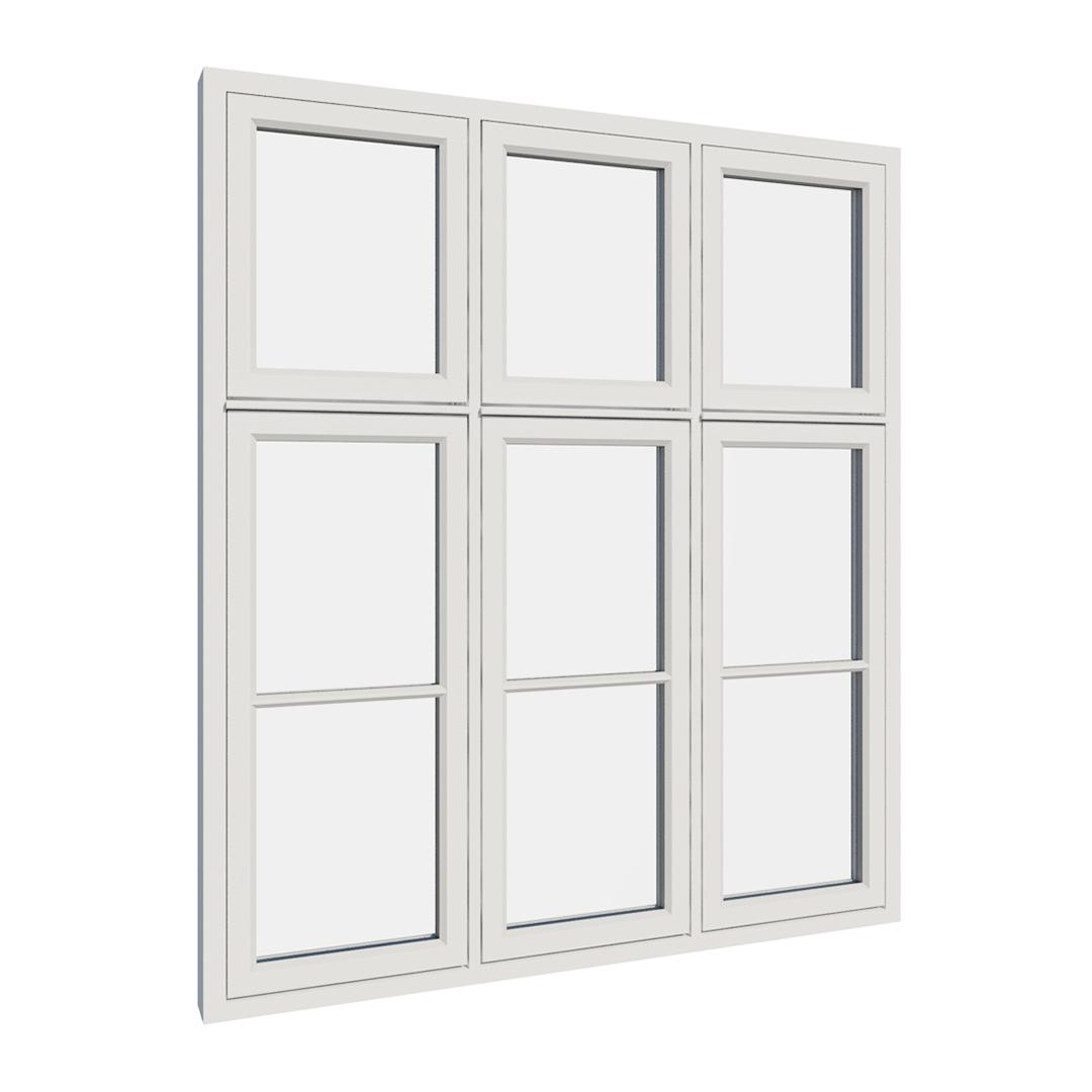 Vikeså vindu - Antikvariske vindu med kittfals - V600 serien / V606 utvendig