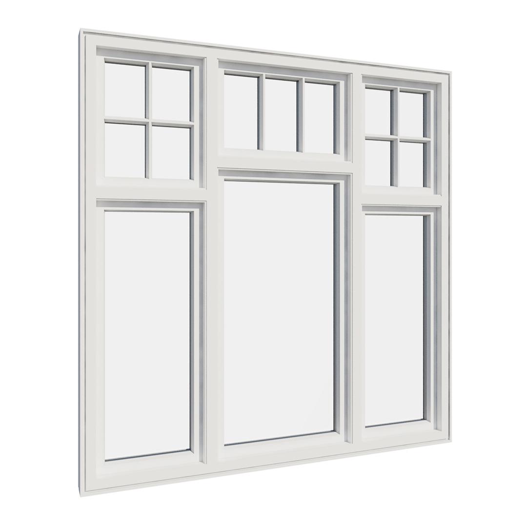 Vikeså vindu - Antikvariske vindu med kittfals - V600 serien / V614 innvendig