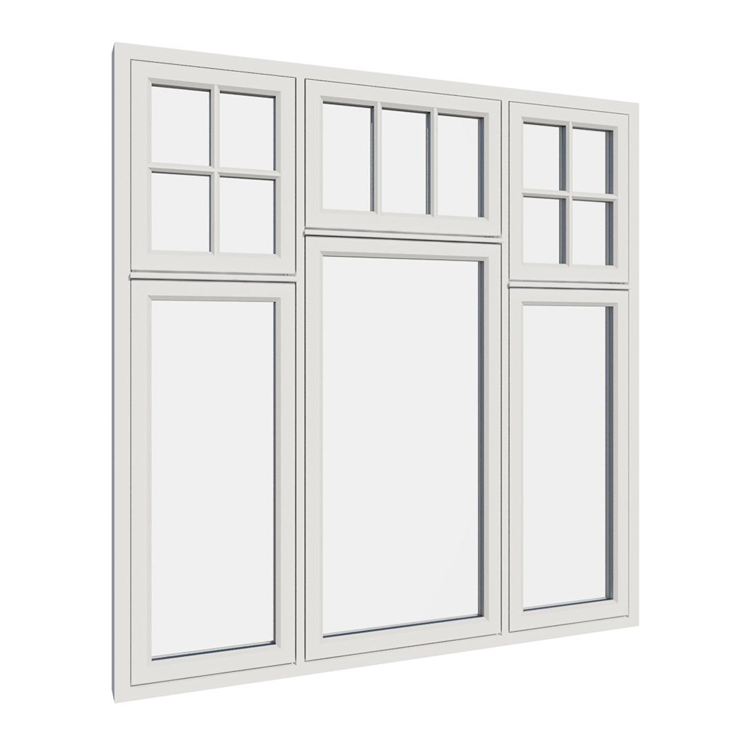 Vikeså vindu - Antikvariske vindu med kittfals - V600 serien / V614 utvendig