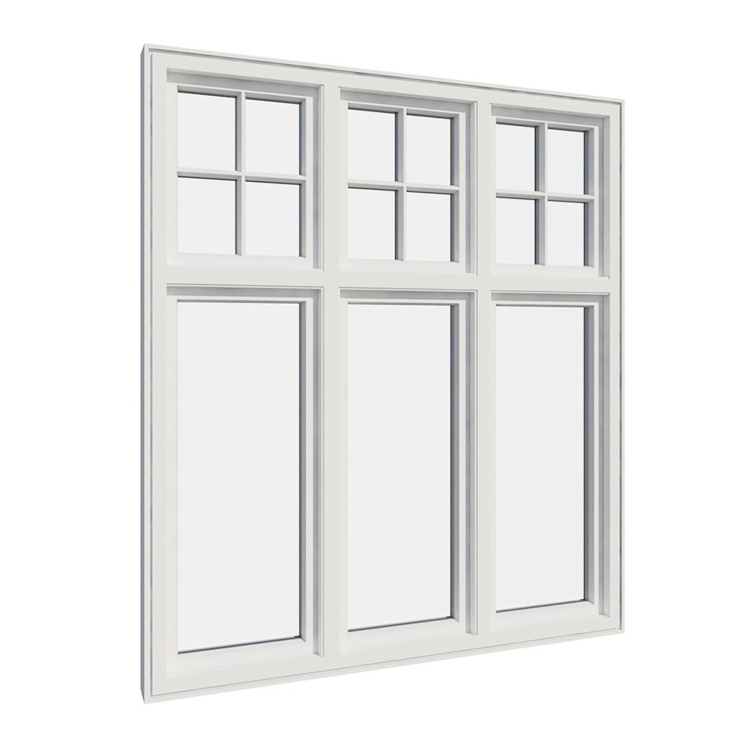 Vikeså vindu - Antikvariske vindu med kittfals - V600 serien / V615 innvendig