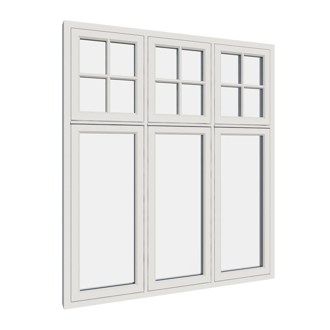 Vikeså vindu - Antikvariske vindu med kittfals - V600 serien / V615 utvendig