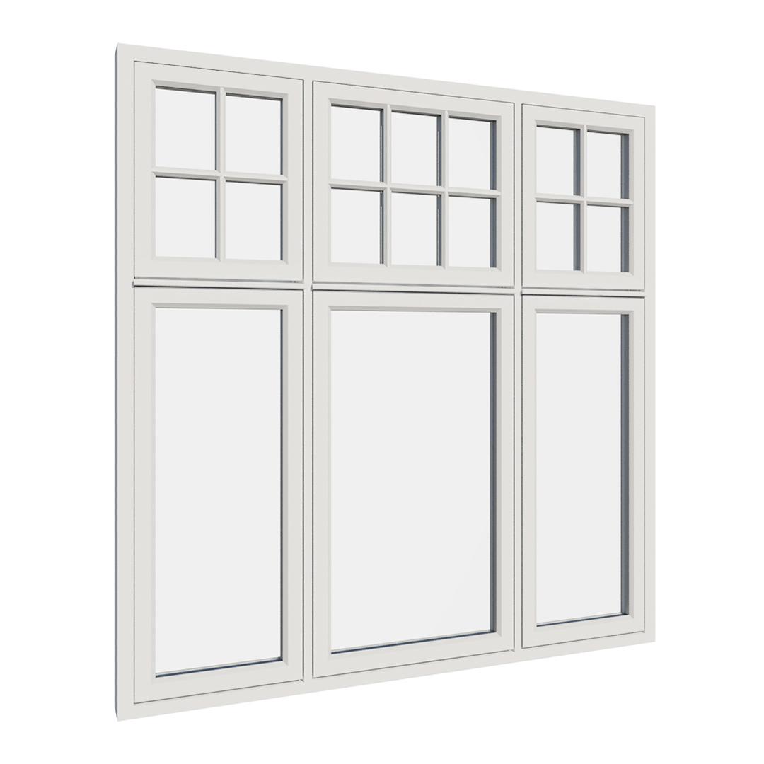 Vikeså vindu - Antikvariske vindu med kittfals - V600 serien / V617 utvendig