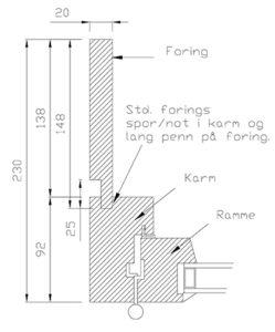 Vikeså Vindu - Utforinger - Løs foring med lang penn