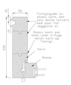 Vikeså Vindu - Utforinger - Massiv karm som kan danne listverk