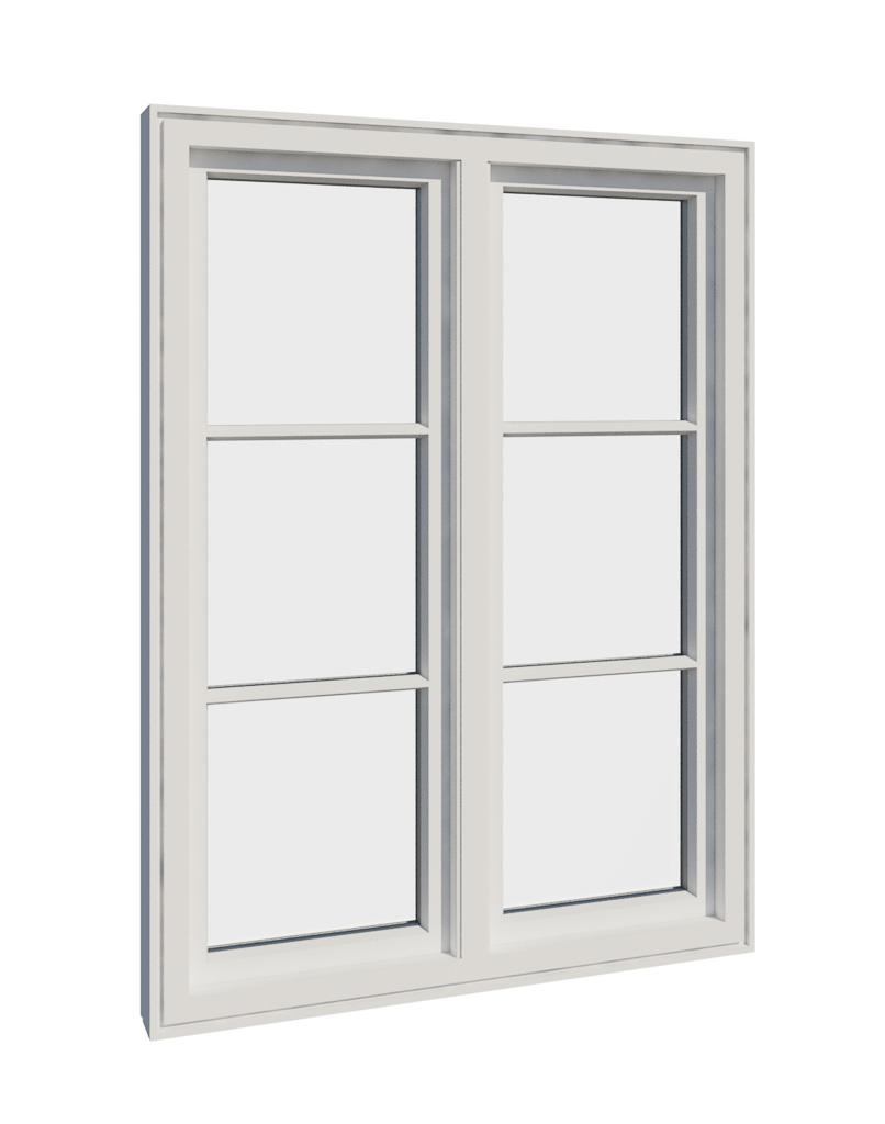 Vikeså vindu - Antikvariske vindu med kittfals - V200 serien / V206 innside