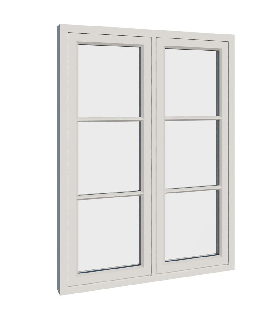 Vikeså vindu - Antikvariske vindu med kittfals - V200 serien / V206 utside