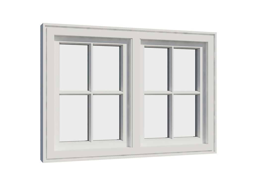 Vikeså vindu - Antikvariske vindu med kittfals - V200 serien / V208 innside