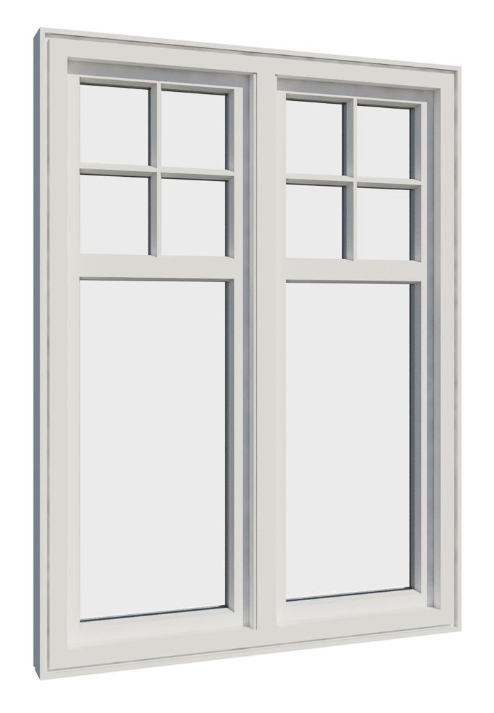 Vikeså vindu - Antikvariske vindu med kittfals - V200 serien / V210 GGS innside