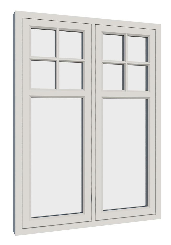 Vikeså vindu - Antikvariske vindu med kittfals - V200 serien / V210 GGS utside
