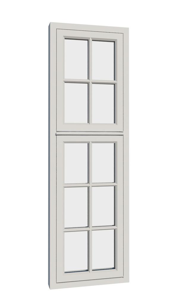 Vikeså vindu - Antikvariske vindu med kittfals - V200 serien / V210 utside