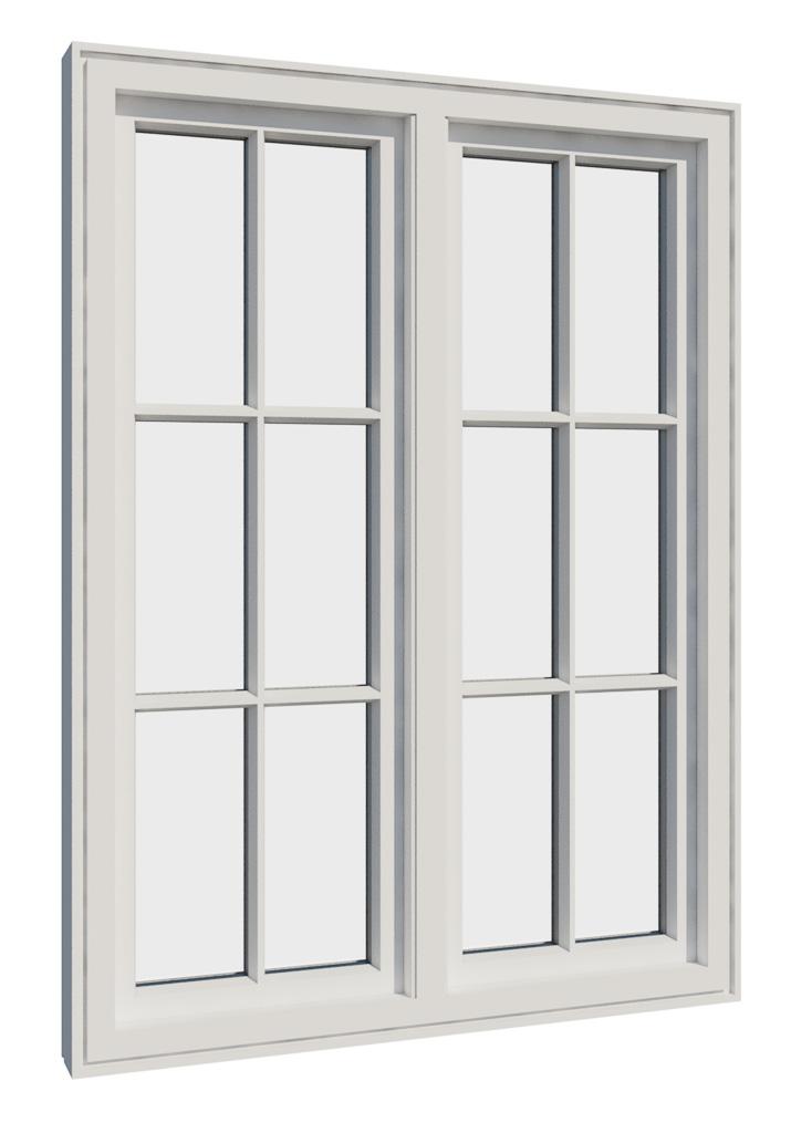 Vikeså vindu - Antikvariske vindu med kittfals - V200 serien / V212 inntside
