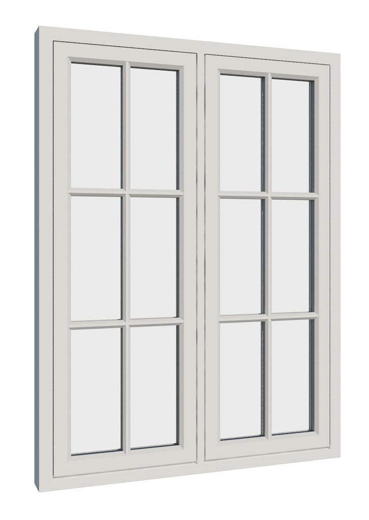 Vikeså vindu - Antikvariske vindu med kittfals - V200 serien / V212 utside