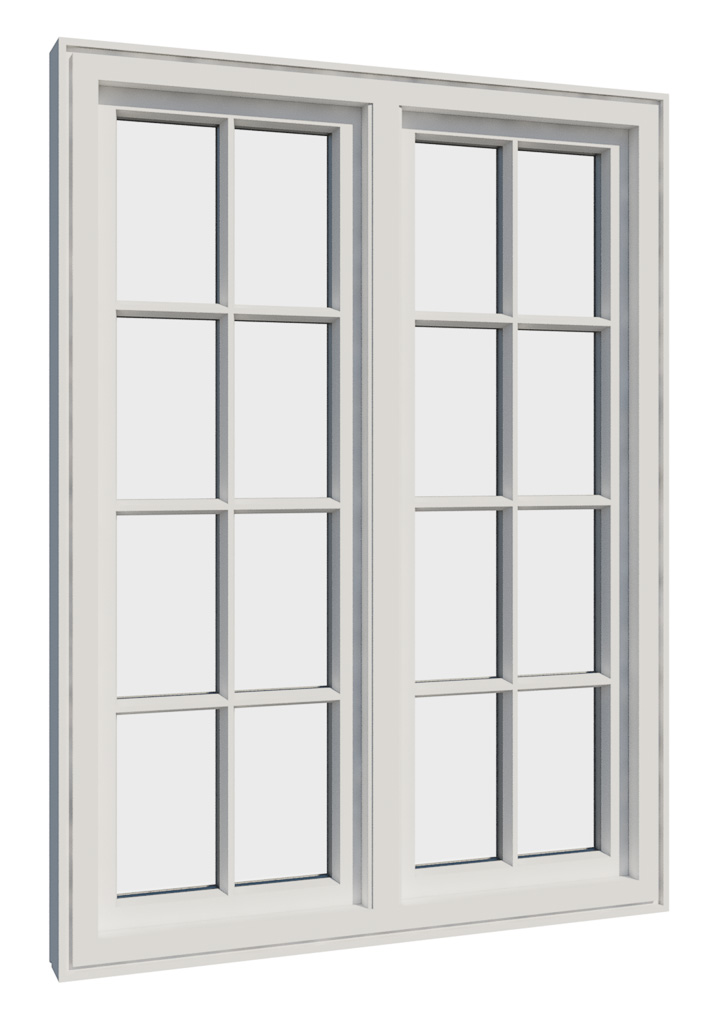 Vikeså vindu - Antikvariske vindu med kittfals - V200 serien / V216 innsidetside