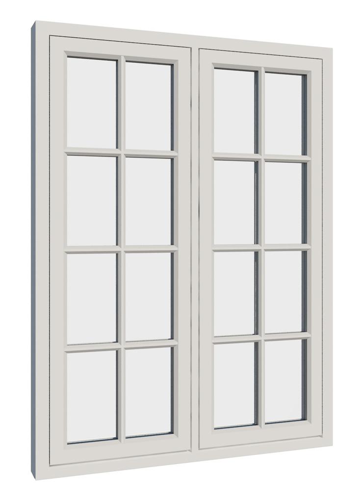 Vikeså vindu - Antikvariske vindu med kittfals - V200 serien / V216 utside